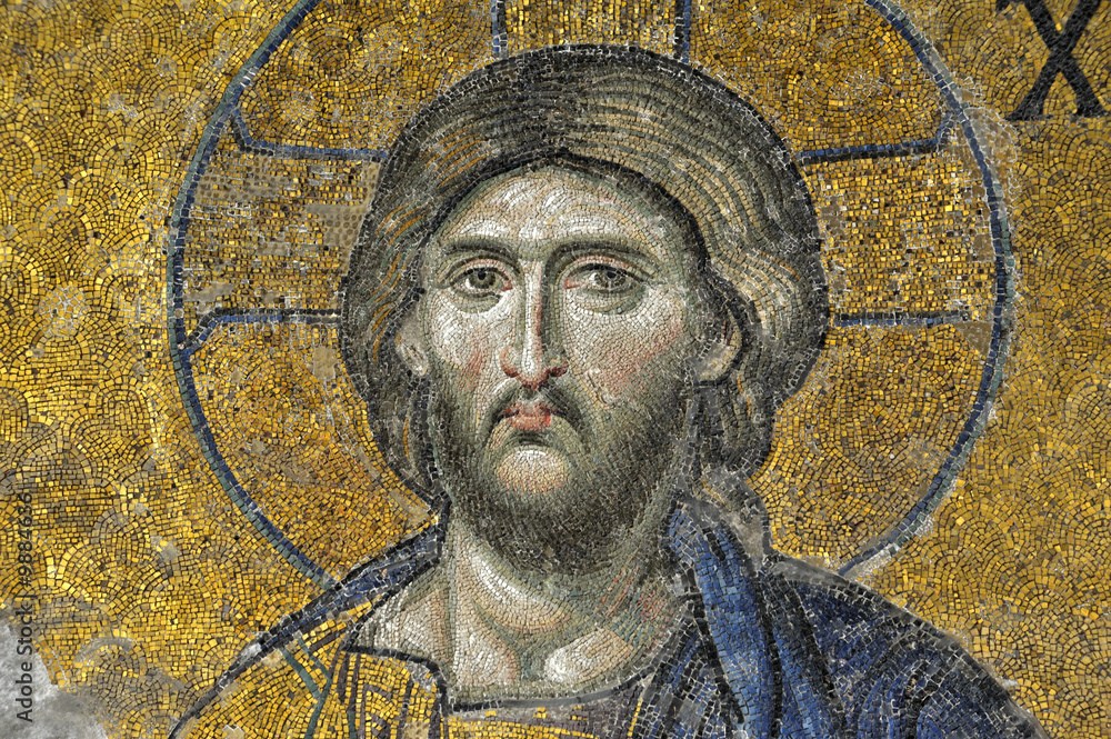 Fototapety, obrazy: deesis-mosaic, Hagia Sophia, Istanbul