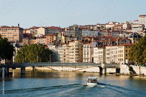 Papiers peints Ville sur l eau Lyon, quais de Saône