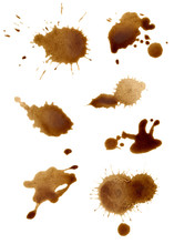 Collection Of Coffee Splashes