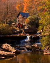 Glade Creek Grist Mill Located...
