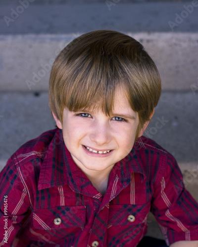 Photo  Jake sitting on steps