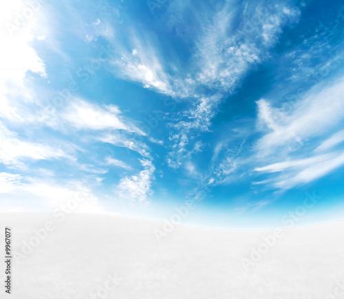 Papiers peints Blanc Beautiful S-curved snowy hills