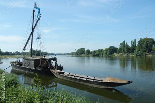 Fototapeta Gabare sur la Loire