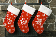 Christmas Stockings On A Firep...