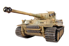 Model Of Tank Tiger Isolated
