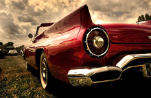 Close Up Shot Of A Vintage Car In Sepia Color Tone