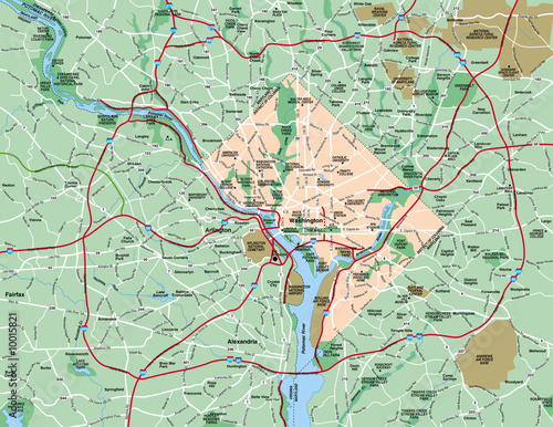 фотография  Washington Metropolitan Area Map