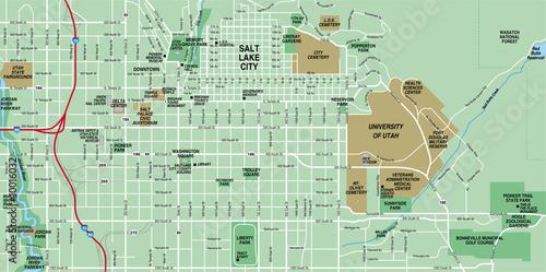 Salt Lake City, UT Map – kaufen Sie diese Illustration und ...