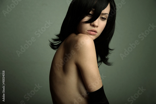 Portrait of young attractive lady. Fashion photo
