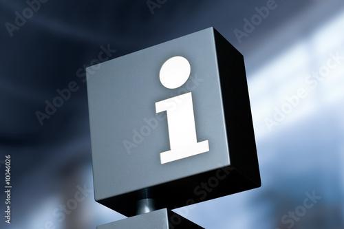 Fotografie, Obraz  Information Symbol