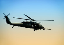 US Army Helicopter In Early Mo...
