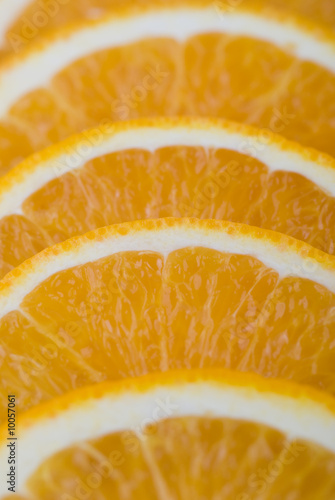 Aluminium Prints Slices of fruit Orange gefächert