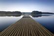 Wooden pier at morning. aRGB.