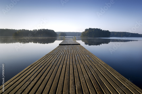Wooden pier at morning. aRGB.