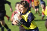 portrait d'un joueur de rugby en plein effort