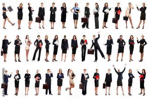 Fototapeta Smiling business women. Isolated over white background. obraz na płótnie
