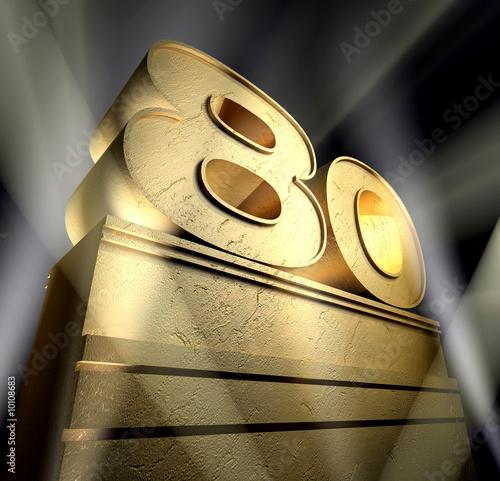 Fotografia  80 eigthy birthday monument