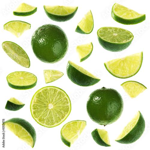 kolekcja-limonek-na-bialym-tle