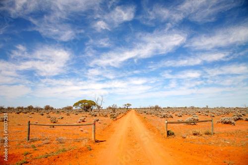 In de dag Australië Outback road Australia