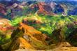 canvas print picture - Rich Colorful Cliff of Na Pali Kauai