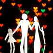 paper family in world of love