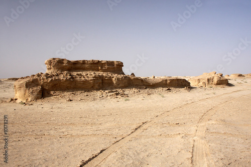 Photo  The big rocky desert in the Tunisia