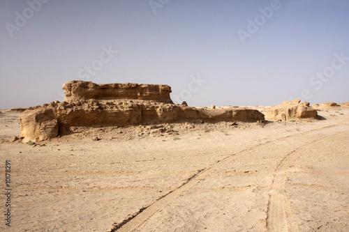The big rocky desert in the Tunisia Wallpaper Mural