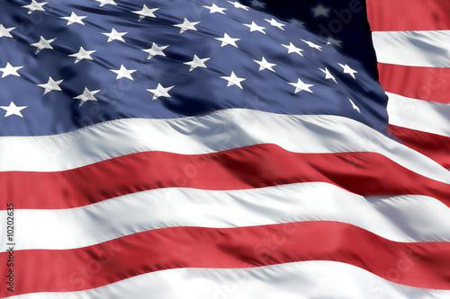 Amerikanische Flagge Fototapete
