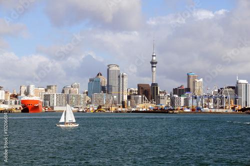 Foto op Aluminium Nieuw Zeeland New Zealand - City of Sail, Auckland Skyline
