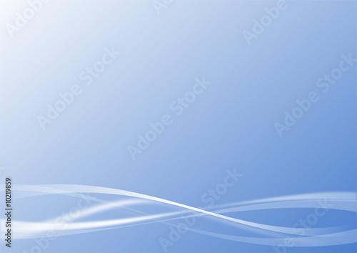 Fotografie, Obraz  vecteur série - courbe vectorielle design sur fond bleu