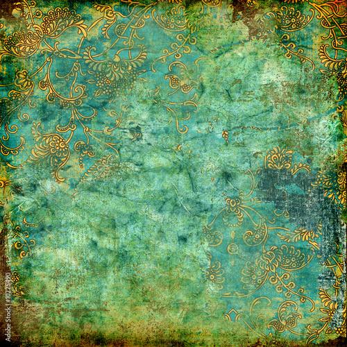 zielony zardzewiały vintage tekstury