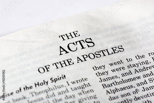 Photo A macro detail of the book of Acts