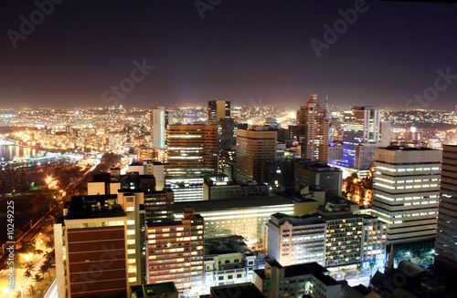 Poster Afrique du Sud city night view