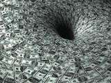 Fototapeta Perspektywa 3d - dollar's flow in black hole