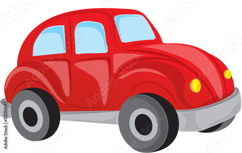 Staande foto Cartoon cars beetle car