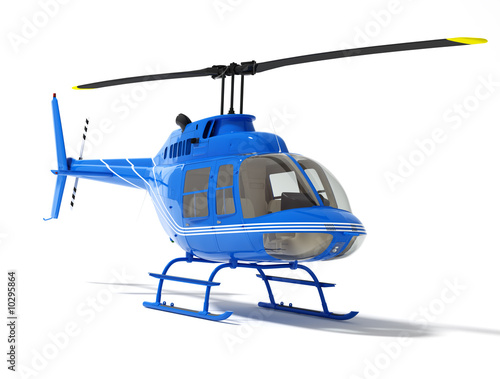 Poster Helicopter helicopter isolated on a white background