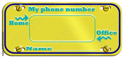 Fototapety, obrazy: Phone targa