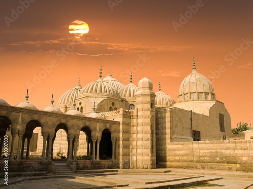 Tuinposter Egypte Domes at sunset in Cairo, Egypt