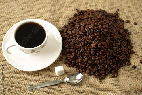 Printed kitchen splashbacks Coffee beans café 2