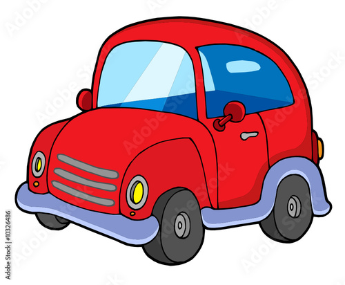 Fototapeta Cute red car obraz