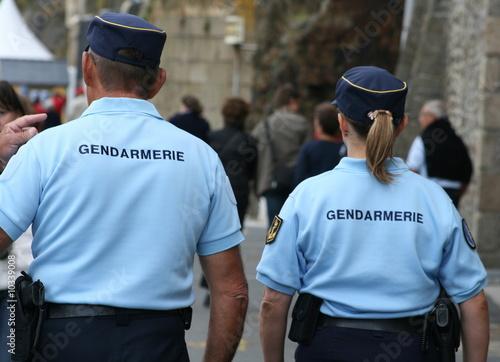 Fotomural gendarmerie, gendarme, police, policier,