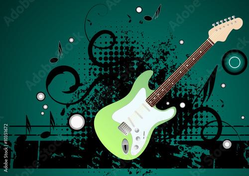 Editable modern vector grunge music background