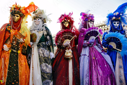 Group of masks in Venice, Italy.