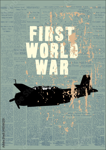 Poster Newspapers world war theme