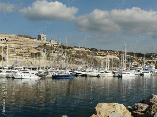 Garden Poster Cyprus bateaux au port