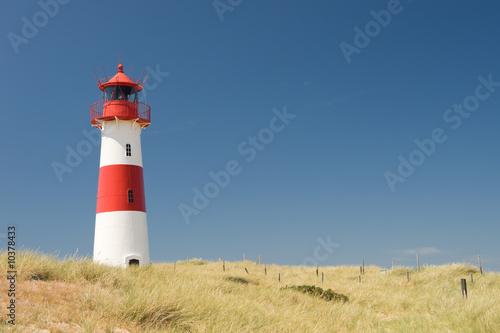 Foto-Kassettenrollo premium - Small lighthouse on the island sylt, germany