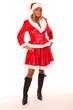canvas print picture - Ganzkörperfoto Weihnachtsfrau