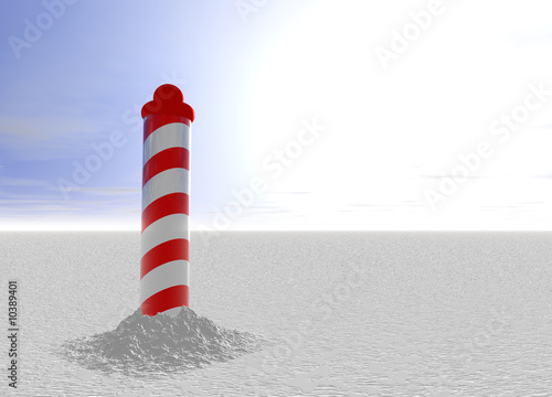 North Pole with Spiral Pattern on Ice with Sky Wallpaper Mural