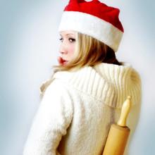 Psst! Weihnachtsfrau Mit Nudelholz