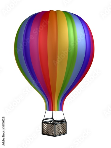 In de dag Ballon colorful hot air balloon isolated on white background